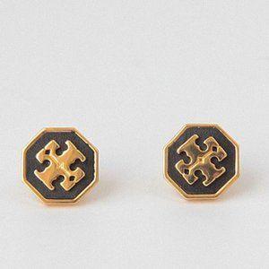 🔥Tory Burch Hexagon logo earrings